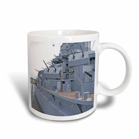 3dRose USS Alabama Battleship Memorial Park Mobile Alabama - US01 MGI0027 - Mark Gibson, Ceramic Mug, 11-ounce
