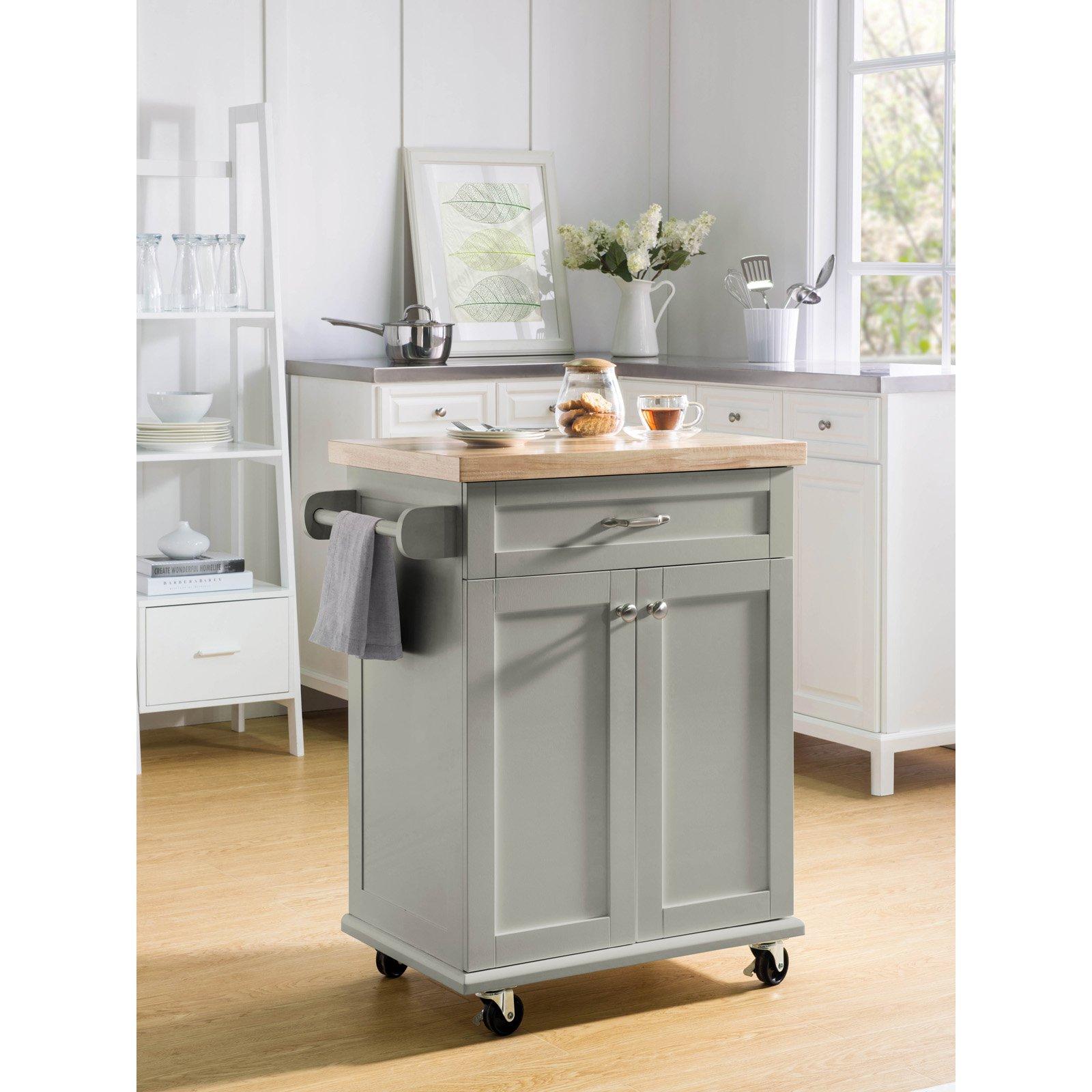 Kitchen Portable Island | Sunjoy Ashby Kitchen Portable Island Cart Walmart Com