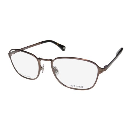 New Jack Spade Samuel Mens Designer Full-Rim Semi Matte Brown Classic Shape Authentic Distinct Frame Demo Lenses 53-18-140 Eyeglasses/Spectacles