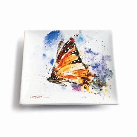 Demdaco Big Sky Carvers Monarch Butterfly Snack Plate (Big Plate)