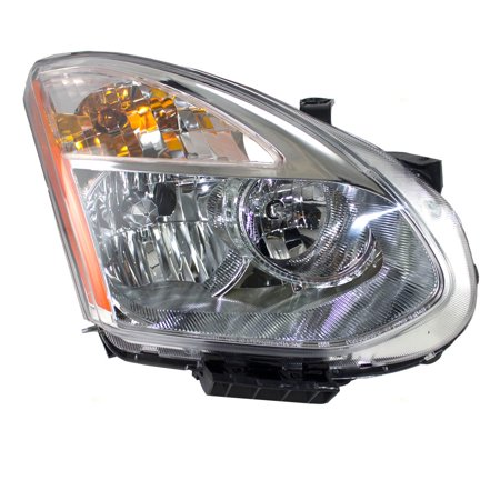 Passengers Halogen Headlight Headlamp Chrome Bezel Replacement for Nissan Rogue & Rogue Select (Rogue Replacement)