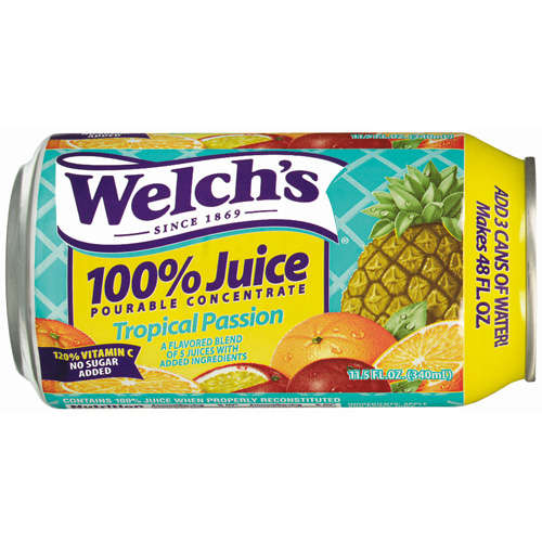 Welch's Pourable: Tropical Passiondified 6/2/07 Juice 100%, 11.5 Oz