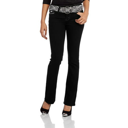 Juniors' Belted Slim Boot Jean