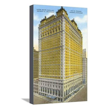 Hotel Book-Cadillac, Detroit, Michigan Stretched Canvas Print Wall Art