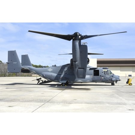 A CV-22B Osprey from US Air Force 8th Special Operations Squadron 1st Special Operations Wing on the ramp at Hurlburt Field Air Force Base Florida Poster Print