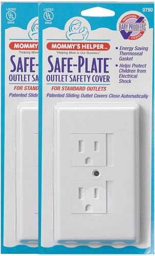 Mommy's Helper Safe Plate 25 Standard Outlet Covers White by Mommys Helper