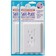 Mommy's Helper Safe Plate 25 Standard Outlet Covers - White
