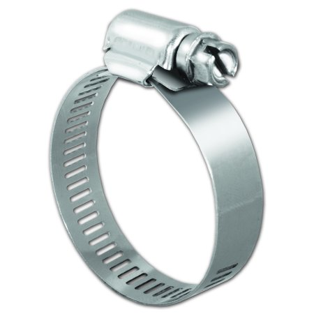 Pro Tie 33005, SAE Size 16, Range 13/16 to 1-1/2 Inch, Regular Duty All Stainless Hose Clamp, 10 Pack ()