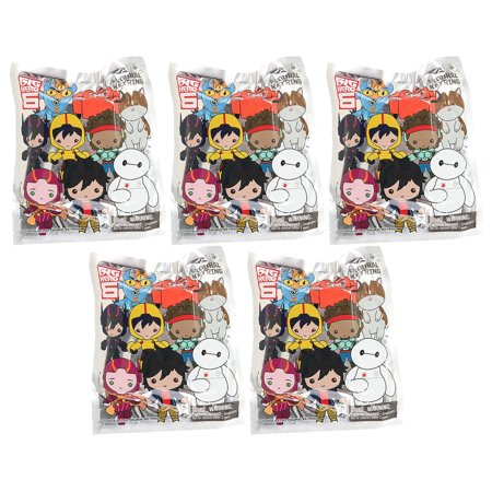 Monogram - Figural Keyring Blind Bags - Big Hero 6 - BLIND BAGS (5 Pack - Monogrammed School Supplies