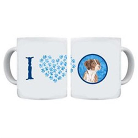 Carolines Treasures SC9122BU-CM15 15 oz. Brittany Dishwasher Safe Microwavable Ceramic Coffee Mug