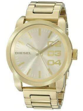 Diesel Men's 54mm Gold-Tone Steel Bracelet & Case Quartz Analog Watch DZ1466
