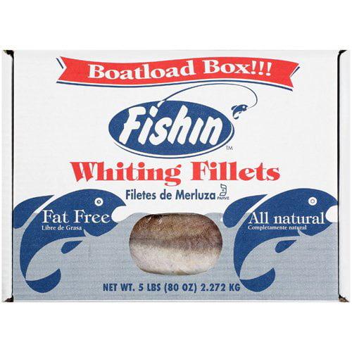 Fishin: Fillets Fat Free All Natural Whiting, 5 lb