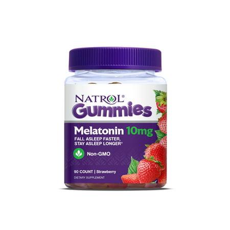 Natrol Melatonin Gummies, Strawberry flavor, 10mg, 90 (Melatonin Sunglasses)