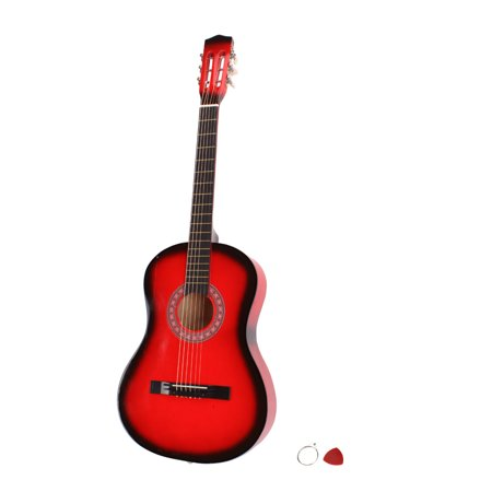 Red Classic Guitar - Zimtown Beginner's 38