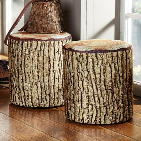 Cushioned Tree Bark Log Seat - Walmart.com