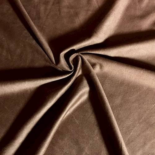 Medium Brown Knit Microsuede, Fabric By the Yard