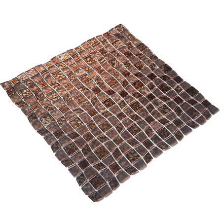 EKBInnovations Instant Mosaic Peel and Stick 11.5-inch Glass Mosaic Wall Tile (6 sheets) 6 Piece (Glass Mosaic Sheets)
