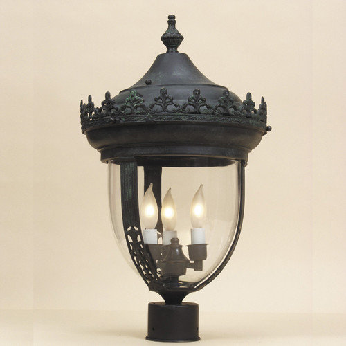 JVI Designs 3 Light Outdoor Post Lantern