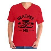 Awkward Styles Beaches Love Me V Neck Shirt for Men Beach T Shirts Beach Outfit Summer Shirt Vacation Tshirt Vacay Vibes Shirt Beach Vibes T Shirt Summer Vacation Tshirt Summer Beach T-Shirt for Men