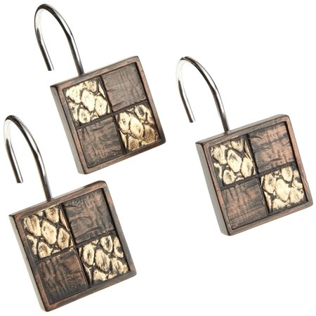 Zambia Bath Décor 12PC Hooks (Best Shower Hooks Ever)