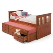Twin Mission Bed with Trundle