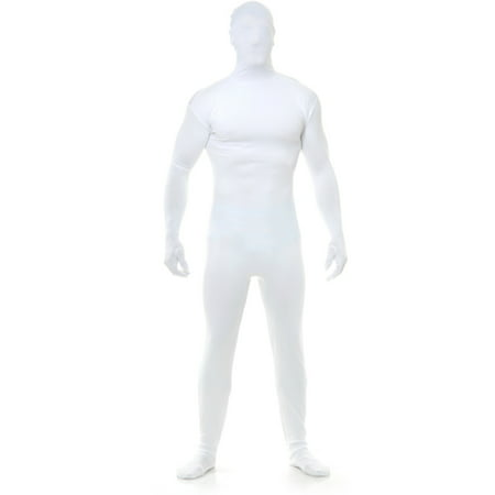 Adults Mens Womens White Team Spirit Bodysuit Costume](White Onesie Adults)
