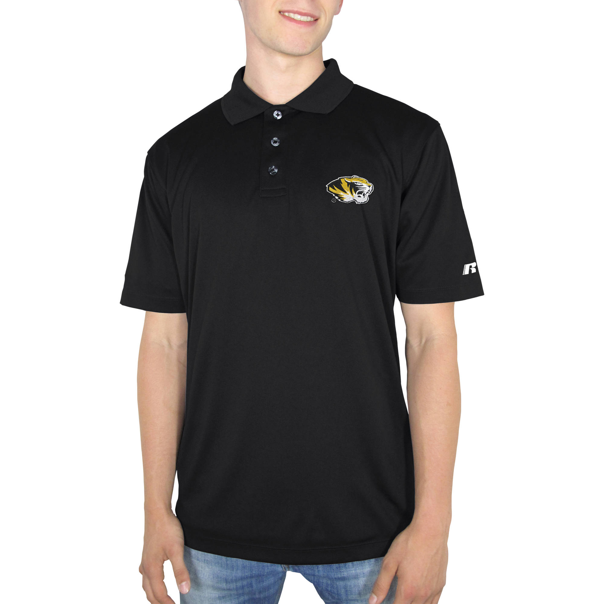 Russell NCAA Missouri Tigers Big Men's Synthetic Polo