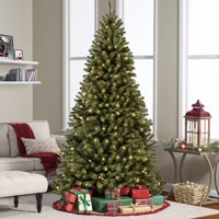 Product Image Best Choice Products 6ft Pre-Lit Spruce Hinged Artificial Christmas Tree w/ 250 UL
