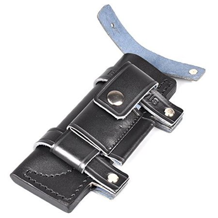 Nuoya001 Collectable Straight Leather Belt Sheath For 6 5  Fixed Black