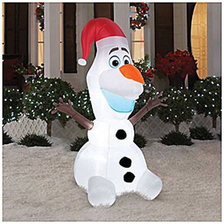 disney frozen olaf 6 foot christmas airblown inflatable blow up yard decoration - Disney Christmas Yard Decorations