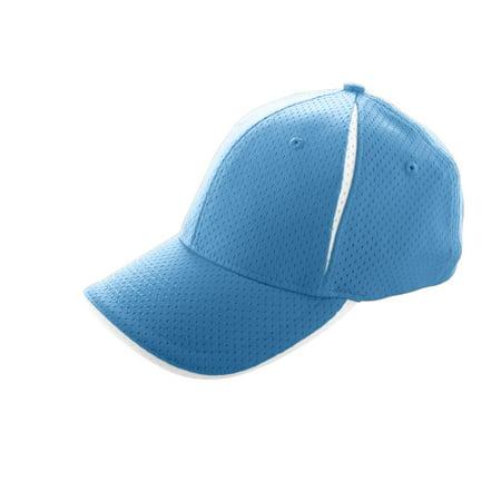 Flex Fit Athletic Hat (6234 Sport Flex Color Block Athletic Mesh Cap COLUMBIA BLUE/WHITE L/XL )