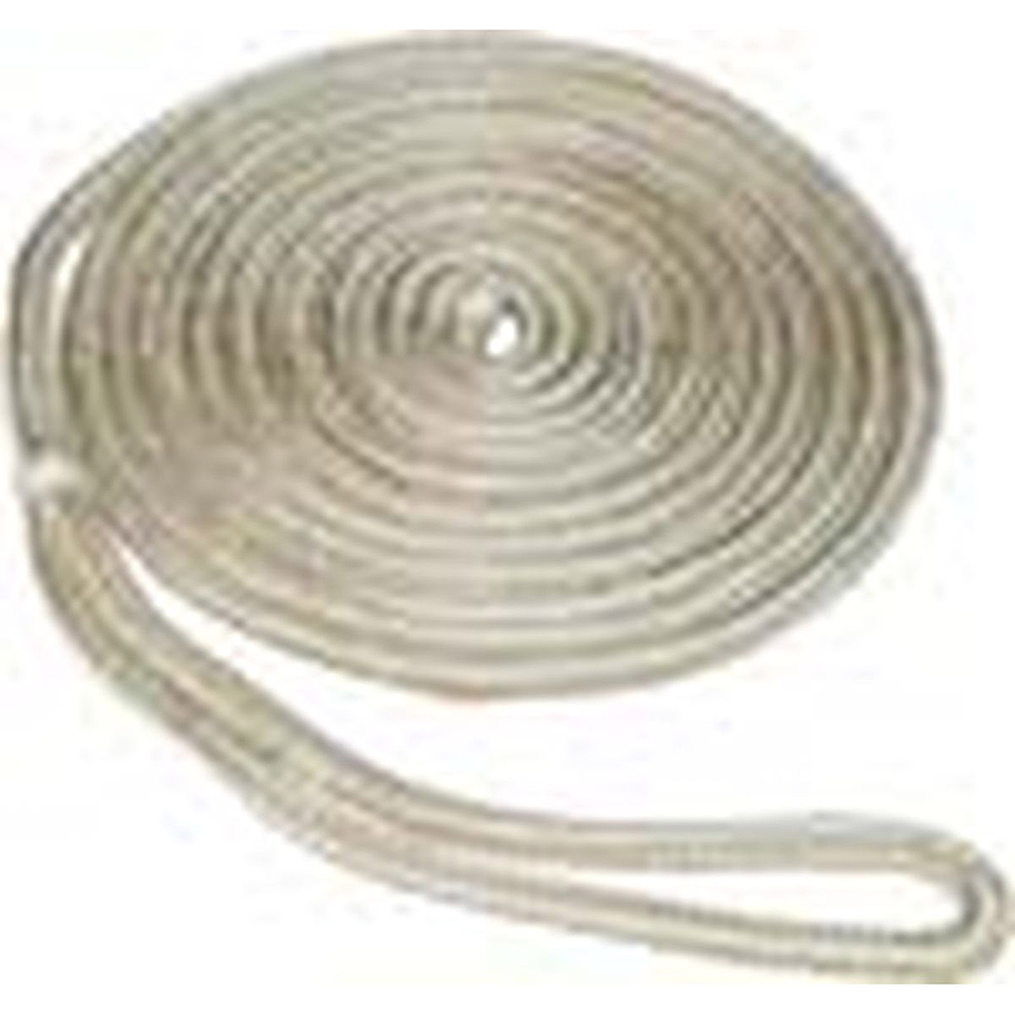 "SeaSense Double Braid Nylon Dock Line, 1 2"" x 35', 12"" Eye, Gold White by Generic"