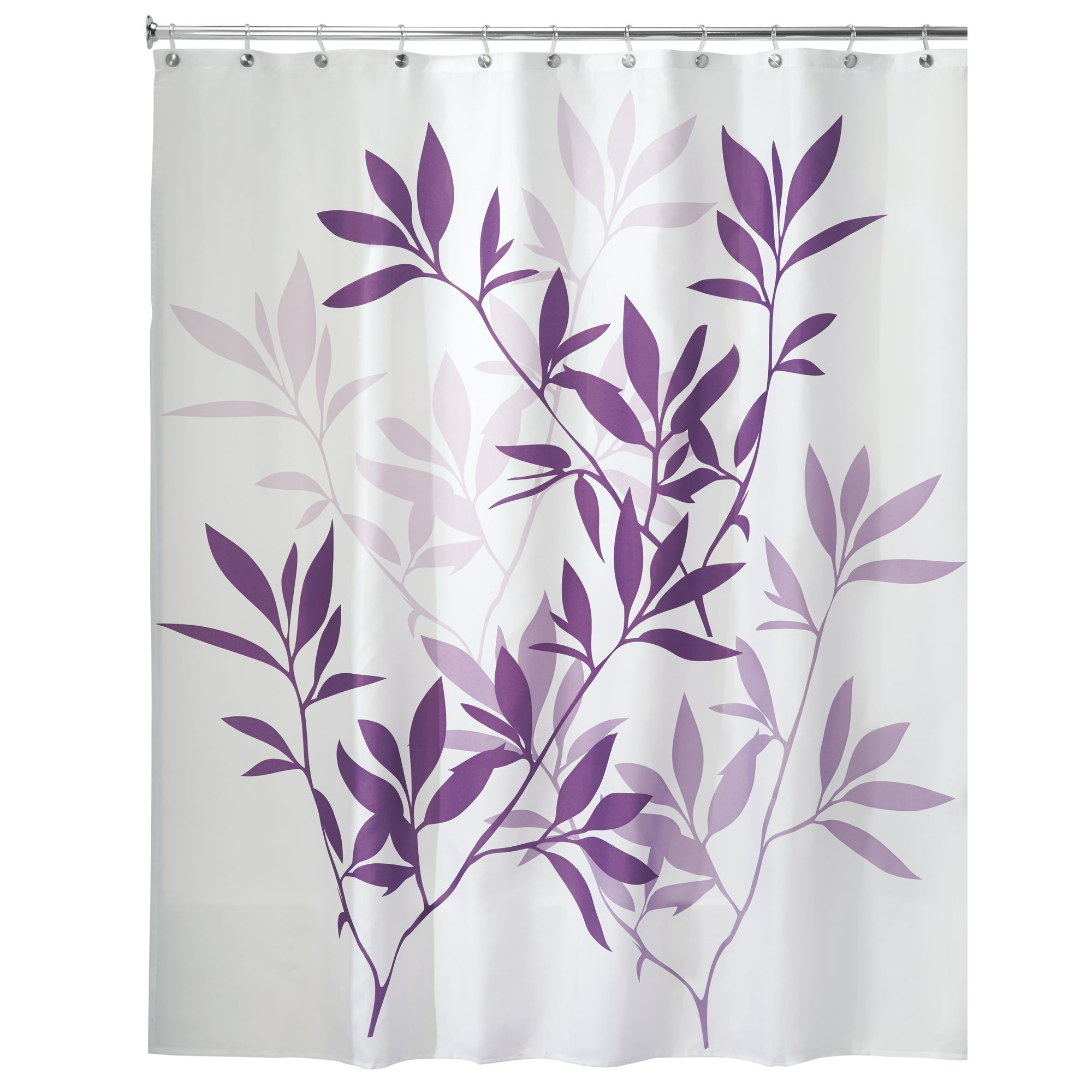 InterDesign Leaves Fabric Shower Curtain, Various Sizes & Colors