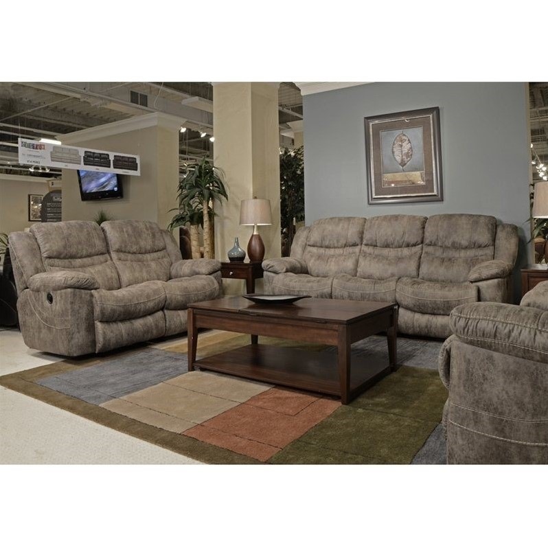 Catnapper Valiant 3 Piece Reclining Sofa Set in Marble