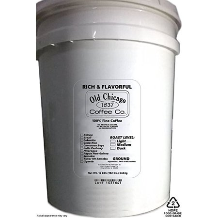 12 Lbs Bulk Ground Coffee ( 5 Gallon Bucket of Coffee ) - 192 Oz. (5,443g)