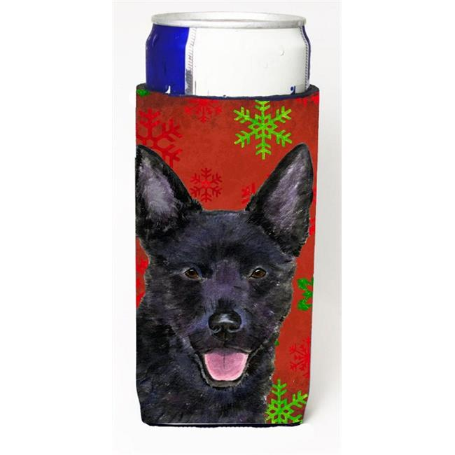 Carolines Treasures SS4705MUK Australian Kelpie Red Green Snowflakes Christmas Michelob Ultra bottle sleeves For Slim Cans - 12 oz. - image 1 de 1