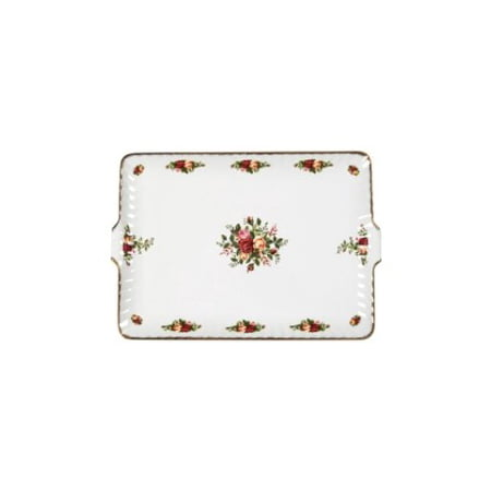 OLD COUNTRY ROSES - FLUTED SERVING TRAY 12.5â