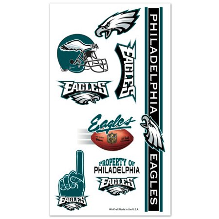 Philadelphia Eagles Temporary Tattoo Face Decals 10 Pack
