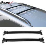 Compatible with 10-17 Chevy Equinox GMC Terrain Factory Style Top Roof Rack Cross Bar Black