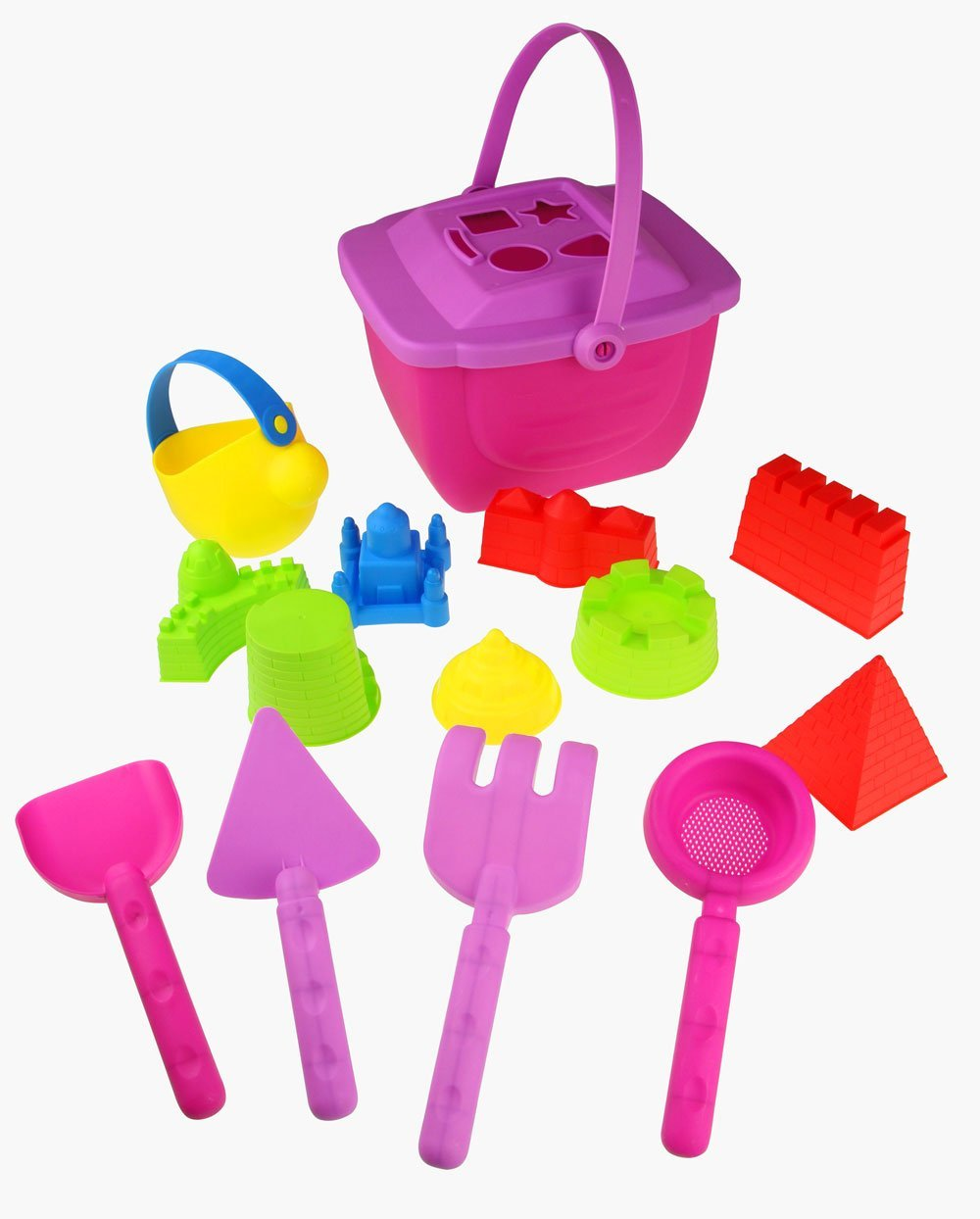15-Pieces Beach Sand Toys Set for Girls by