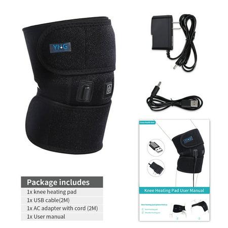 Therapy Knee Wrap (Yosoo Heating Knee Pad,Heated Knee Brace Far Infrared Heat Therapy Heating Knee Brace Wrap for Arthritis Pain Rheumatism Varicose Veins Joint Pain Graphene Knee Heating Pad)