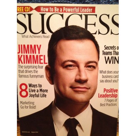 Success Business Magazine August 2014 Issue Featuring Jimmy Kimmel