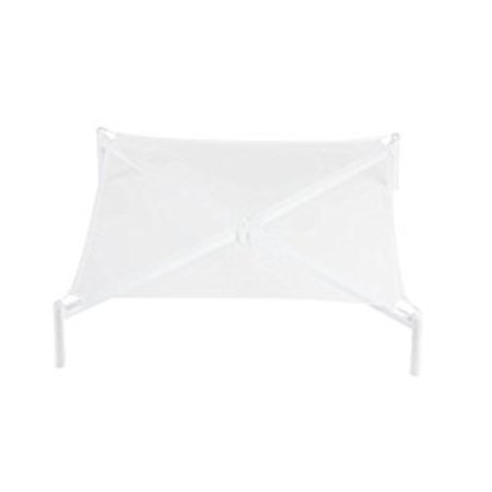 Honey Can Do Foldable Sweater Drying Rack with Removable Mesh Shelf, White  > Honey-Can-Do DRY-01624 Folding Sweater Drying Rack, White. Drying sweaters and delicates improperly can cause your clothing to shrink or degrade. Keep your garments looking their best by air-drying them on this extra-large mesh drying rack. Measuring an ample 26 inches square and 6 inches high, this rack is designed to be used alone or stacked. The breathable mesh allows for even air flow above and below your clothing for faster drying time. Purchase multiple racks and stack high for additional drying levels. The sturdy frame cleans easily and assembles quickly with no tools. Folds up for compact storage in between uses.