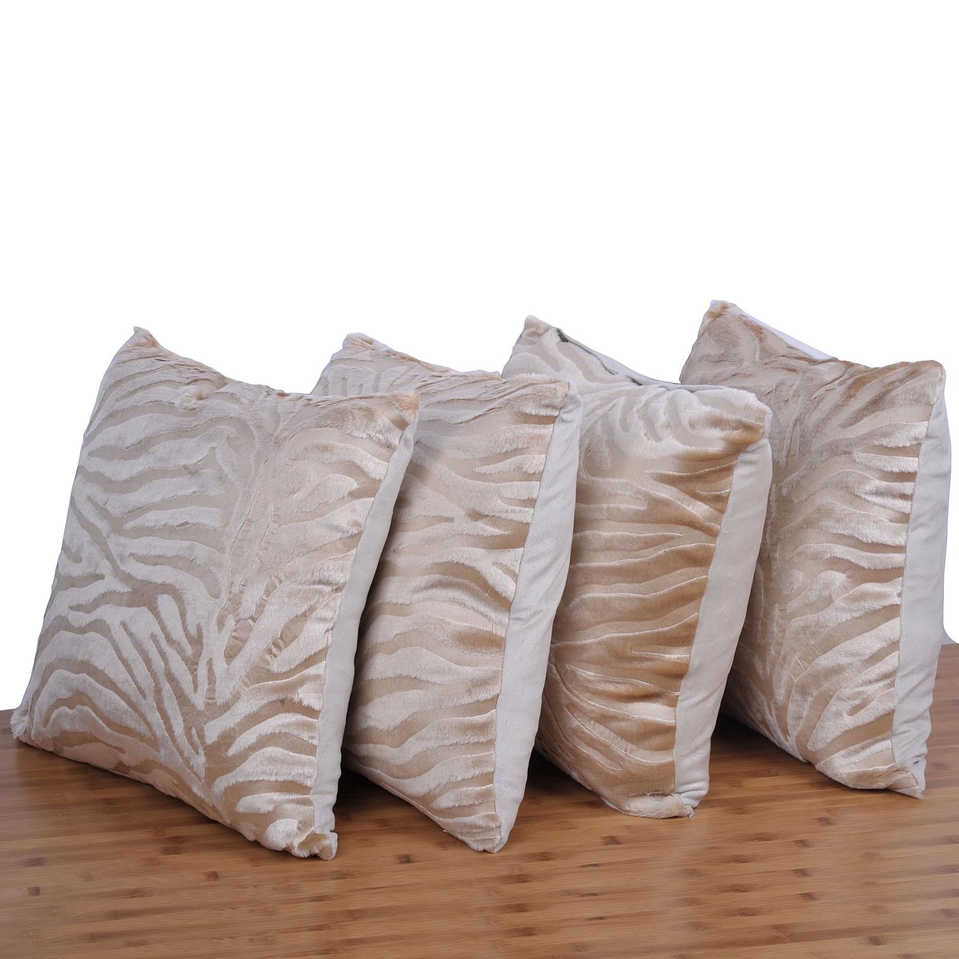 Serenta Embossed 4 Piece Mink Pillow Shell Set