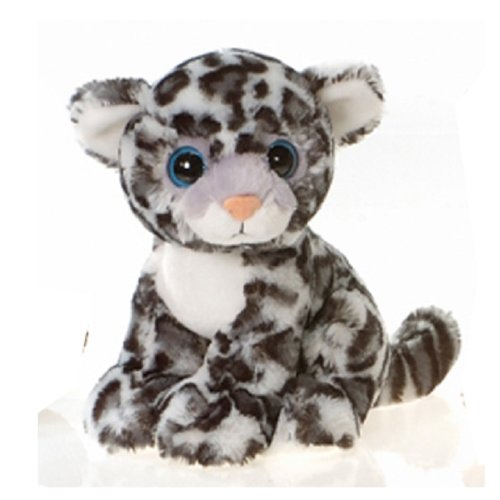9 Sitting Snow Leopard With Big Eyes Plush Stuffed Animal Toy By