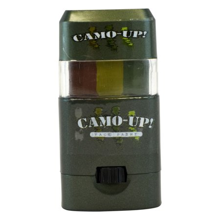 Camo-Up Face Paint, Dark Green/Light Green/Brown