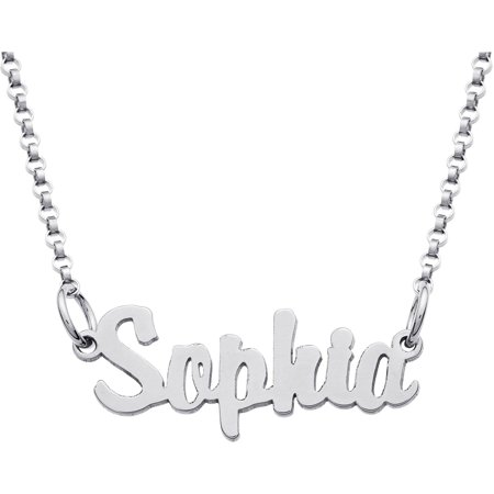 Personalized Sterling Silver Girls' Mini Name Necklace