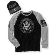 Army Men's Shirt & Beanie Combo