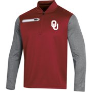 Men's Russell Crimson Oklahoma Sooners Colorblock Half-Zip Pullover Jacket