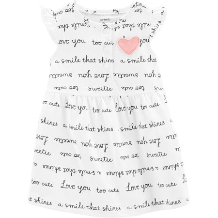 Carters Baby Girls Sweet Words Dress - Carters Halloween Dress